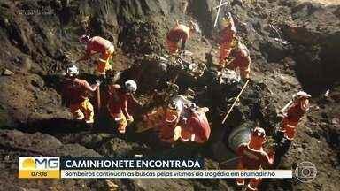 Bombeiros encontram caminhonete que era procurada desde o rompimento em Brumadinho - Os militares tentam localizar vítimas perto do local. 11 pessoas ainda estão desaparecidas.
