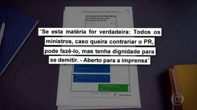 Troca de mensagens entre Bolsonaro e Moro mostra a pressão por demissão do então ministro - A TV Globo teve acesso ao material da investigação apura suposta interferência política do presidente na Polícia Federal.