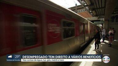 Bilhete da CPTM para desempregados está de volta - E tem mais benefícios para não pagar água, luz, gás e metrô
