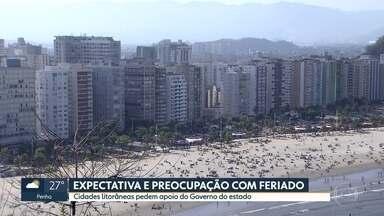 Esquema especial nas praias para imepdir aglomeração no feriado de 7 de setembro - Cidades devem pedir ajuda da PM