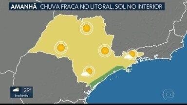 Fim de semana e feriado terão predomínio de Sol e calor - Possibilidade de chuva fraca em parte do litoral. Confira.