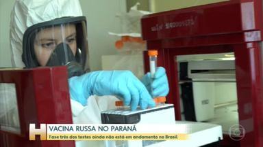 Vacina russa: Governo do Paraná prevê iniciar testes em voluntários em um mês - Estudo preliminar publicado nesta sexta-feira (4) apontou que vacina produziu resposta imune nas fases de teste. Governo estadual afirmou que pedido de liberação deve ser feito em dez dias à Anvisa.