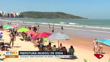 Guarapari, ES, libera banhistas nas praias - Asssista a seguir.