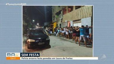 Operações flagram festas de paredão com aglomerações em Salvador e Lauro de Freitas - Em Salvador, oito veículos foram apreendidos.