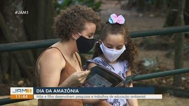 Dia da Amazônia: Mãe e filha desenvolvem pesquisas de educação ambiental - Priscila Morhy é bióloga e desenvolve projetos na área.
