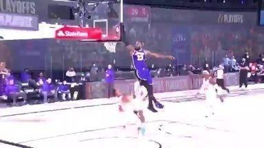 NBA: LeBron James capricha no pôster, mas Rockets vencem Lakers - NBA: LeBron James capricha no pôster, mas Rockets vencem Lakers