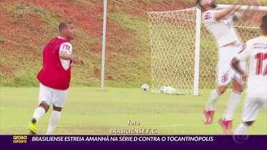 Brasiliense estreia amanhã na Série D contra o Tocantinópolis - Brasiliense estreia amanhã na Série D contra o Tocantinópolis