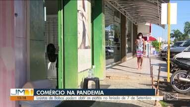 Lojistas de Balsas podem abrir as portas no dia 7 de setembro - A curva de contágio pelo novo coronavírus continua caindo na cidade.