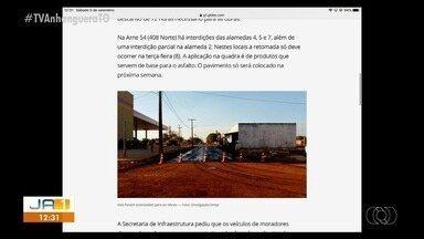 Ruas serão fechadas para obras de pavimentação durante o feriado em Palmas - Ruas serão fechadas para obras de pavimentação durante o feriado em Palmas