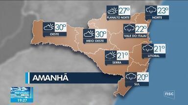 Confira a previsão do tempo para este domingo em SC - Confira a previsão do tempo para este domingo em SC