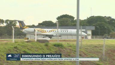 Companhias aéreas fretam aviões para amenizar crise na região de Ribeirão Preto - Times de futebol estão entre os principais clientes do serviço.