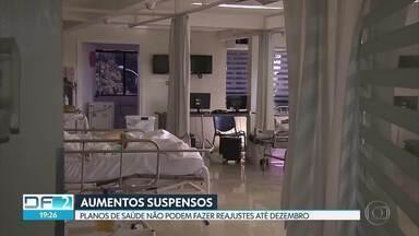 Planos de saúde não podem ser reajustados até o fim do ano - Por causa da pandemia, a Agência Nacional de Saúde Suplementar suspendeu os reajustes de setembro até dezembro deste ano.