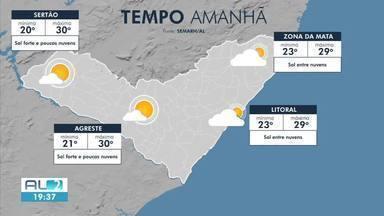 Confira a previsão do tempo para o domingo em Alagoas - Sábado foi de sol em Maceió.