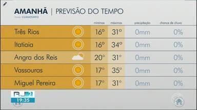 Domingo será com sol forte em todo Sul e Costa Verde do Rio - Meteorologia prevê tempo seco e descarta possibilidade de chuva na região.