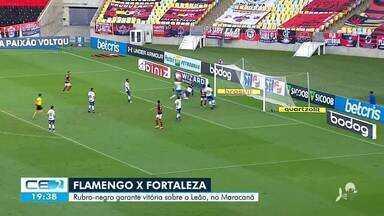 Flamengo garante a vitória sobre o Fortaleza no Maracanã - Saiba mais em: g1.com.br/ce
