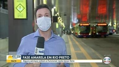 Fase amarela em Rio Preto - Alguns serviços voltam a funcionar nesta terça-feira.