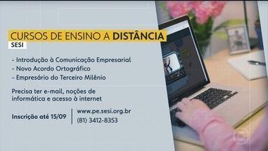 Sesi oferece vagas em cursos gratuitos pela internet - Ao todo, são ofertadas 300 vagas para as capacitações.