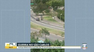 A justiça determina prisão de 25 bandidos envolvidos na Guerra do Complexo do São Carlos - A polícia está ouvindo depoimentos de traficantes presos