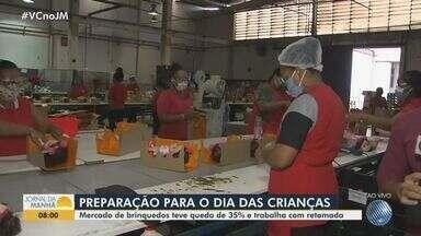 Mercado de produção e venda de brinquedos se prepara para o Dia das Crianças, em outubro - O setor sofreu queda de 35% das vendas em meio à pandemia, mas um aquecimento é esperado para o próximo mês.