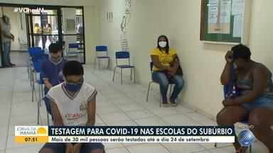 Escolas do interior anunciam retomada de aulas; alunos são testados para Covid no Subúrbio - Veja também os dados estatísticos sobre a pandemia em todo o estado.