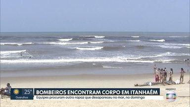 Bombeiros encontram corpo na Praia da Boca da Barra, em Itanhaém - Diego Alexandre Gonçalves era um dos dois jovens que desapareceram no domingo na cidade
