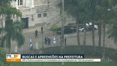 Polícia e MP fazem buscas e apreensões na Prefeitura do Rio durante operação - Os agentes cumpriram mandados em três endereços da Prefeitura.
