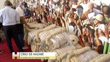 Corda do Círio de Nazaré vai ser exposta aos fiéis - Por conta da pandemia, a tradicional procissão com a imagem de Nossa Senhora foi cancelada.