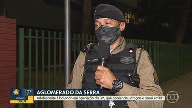 Adolescente baleado no Aglomerado da Serra, região Centro-Sul da capital - Jovem foi baleado durante operação da polícia, contra tráfico de drogas.
