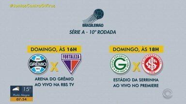 RBS TV transmite Grêmio e Fortaleza neste domingo - Assista ao vídeo.