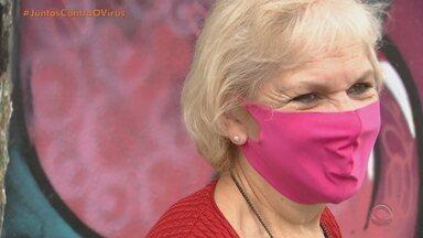 Gaúchos tiveram que se adaptar com o uso obrigatório da máscara no combate ao coronavírus - Mesmo com a determinação, muitas pessoas ainda não fazem o uso de máscara.