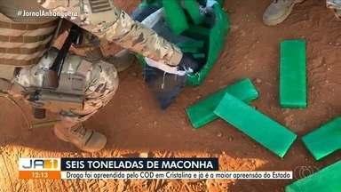 Comando de Operações de Divisa apreende seis toneladas de maconha, em Cristalina - Segundo a polícia, apreensão é a maior do estado.