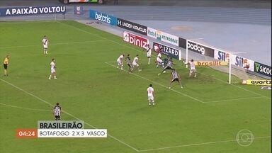 Vasco vence o Botafogo por 3 a 2; Ceará vence o Flamengo por 2 a 0 - Confira os gols.