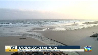 Praias da Grande Ilha estão impróprias para banho - A Secretaria de Estado do Meio Ambiente divulgou, no fim de semana, novo laudo sobre a balneabilidade das praias na Ilha de São Luís. Todos os pontos analisados estão impróprios para banho.