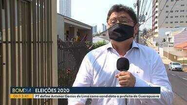 PT define Antenor Gomes de Lima como candidato a prefeito de Guarapuava - PT define ontem candidato à prefeitura de Guarapuava.