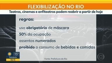 Cinemas e teatros podem reabrir no Rio - É mais uma etapa da flexibilização.