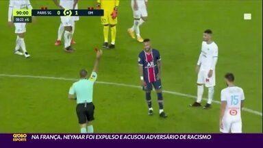 Na França, Neymar é expulso e acusa adversário de racismo - Na França, Neymar é expulso e acusa adversário de racismo
