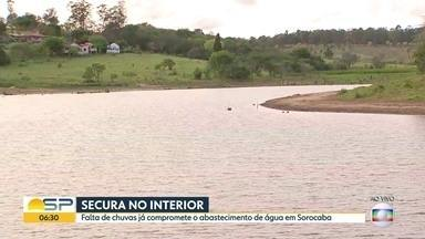 Abastecimento de água em cidades do interior está comprometido - Regiões de São José do Rio Preto e Sorocaba já têm cidades com racionamento.