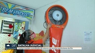 Decisões judiciais sobre volta às aulas confundem diretores de escolas particulares - Agora a Justiça mantém a proibição da volta às aulas.