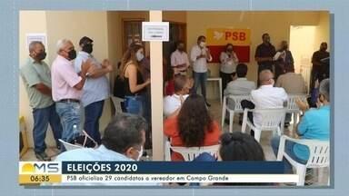 PSB faz convenção em Campo Grande para a oficialização de candidaturas - PSB faz convenção em Campo Grande para a oficialização de candidaturas
