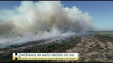 Corpo de Bombeiros do Paraná vai ajudar no combate ao fogo em Mato Grosso do Sul - São 32 bombeiros do Paraná que estão a caminho de Mato Grosso do Sul. Militares de Curitiba, Cascavel e Londrina vão integrar o grupo de combate ao fogo no Pantanal. Eles chegam nesta terça (15) e vão amanhã para Corumbá.