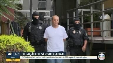 Toffoli arquiva inquéritos no STF com base em delação de Cabral - Pedido foi feito pela Procuradoria-Geral da República.
