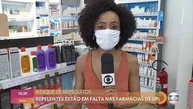 São Paulo já registra falta de repelente por conta da infestação de mosquitos - Calor fora de época provocou uma corrida dos moradores de São Paulo às farmácias em busca de repelentes