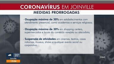 Decreto em Joinville prorroga medidas restritivas por sete dias - Decreto em Joinville prorroga medidas restritivas por sete dias