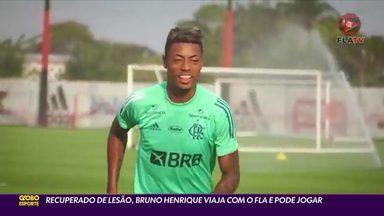 Recuperado de lesão, Bruno Henrique viaja com o Flamengo para o Equador - Recuperado de lesão, Bruno Henrique viaja com o Flamengo para o Equador