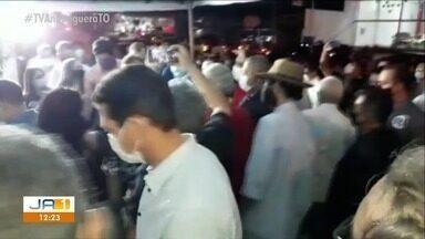 Governador Mauro Carlesse discursa sem máscara em Gurupi durante uma convenção de partido - undefined