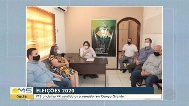 PTB oficializa candidatos em convenção em Campo Grande - PTB oficializa candidatos em convenção em Campo Grande