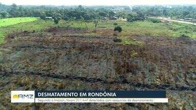 Rondônia aumenta desmatamento em 83% - Dados são do Imazon.