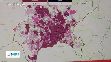 Levantamento indica quais bairros possuem mais casos de Covid-19, em Goiânia - Estudo é da Universidade Federal de Goiás (UFG).