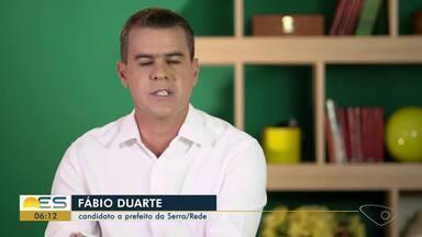 Rede oficializa candidatura de Fábio Duarte à Prefeitura da Serra - Veja a seguir.