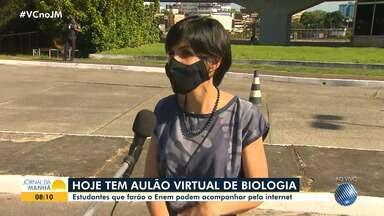 Secretaria de Educação promove aulões virtuais de Biologia para o Enem - Faltam quatro meses para a aplicação das provas.